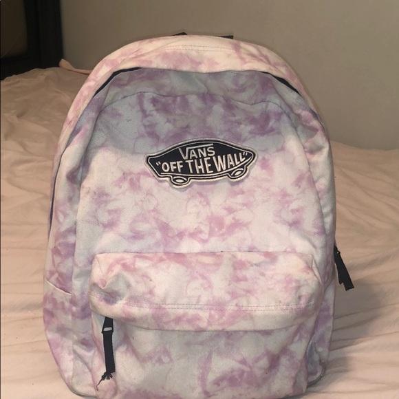 fb56db7bd5 Cute tie dye vans book bag